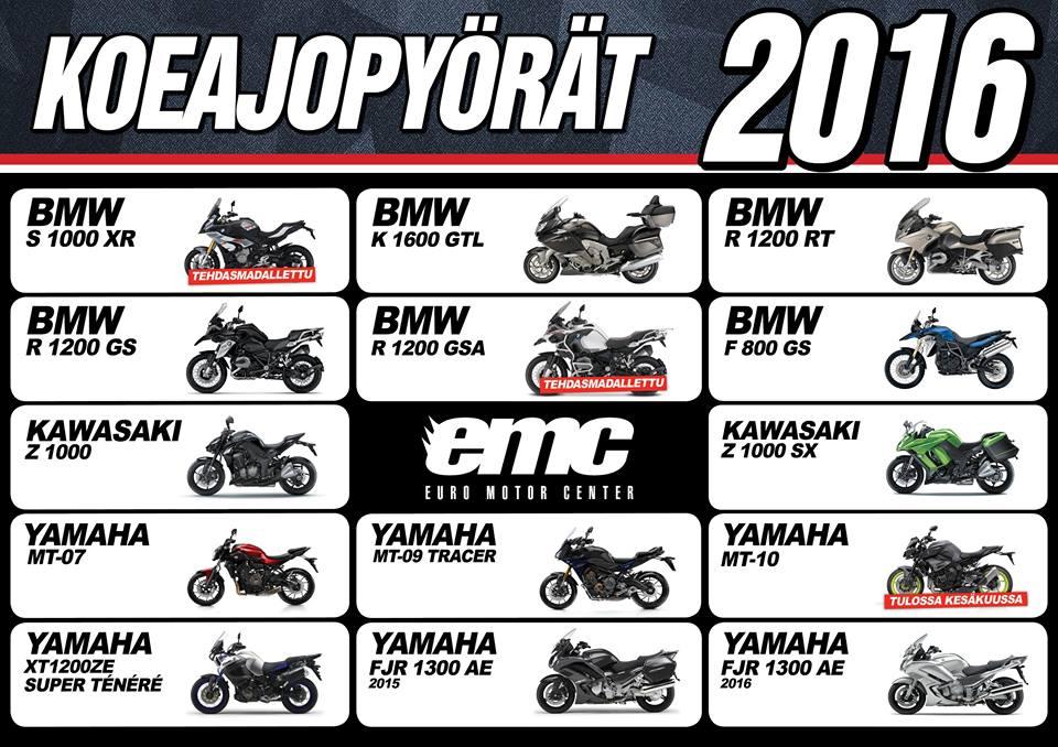 EMC koeajopyörät 2016