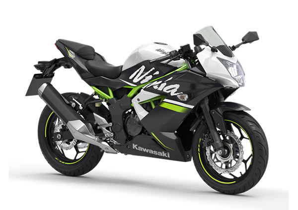 kawasaki ninja 125 2020 white black