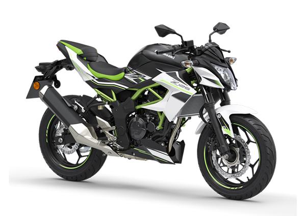 kawasaki z125 2020 black white