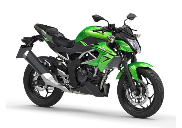 kawasaki z125 2020 green black