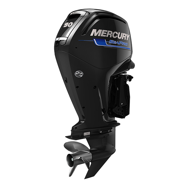 mercury 90HP FourStroke SeaPro 3qtr Stbrd Aft