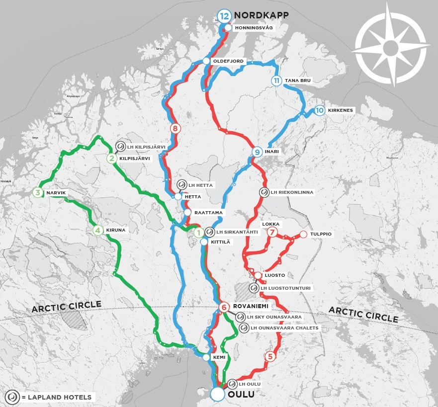 Lapland Motorcycle Routes