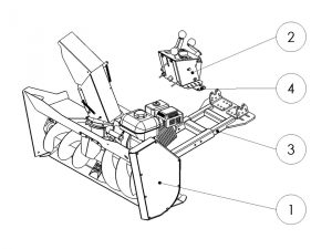 rammy snowblower 120 atv delivery package